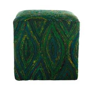 Poef vierkant groen