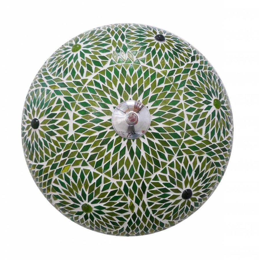 plafonniere glasmozaïek groen turkisch design