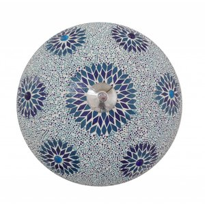 Plafonniere mozaïek kraal blauw