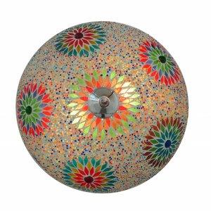 Plafonniere mozaïek kraal multicolor
