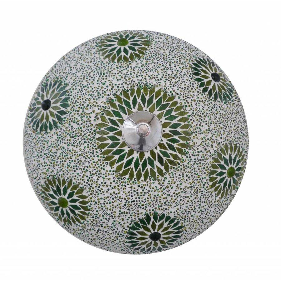 Plafonniere mozaïek groen kraal (beads)