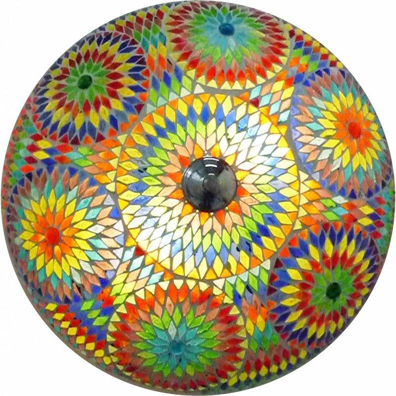 Oosterse plafonniere mozaïek multicolour kraal . -