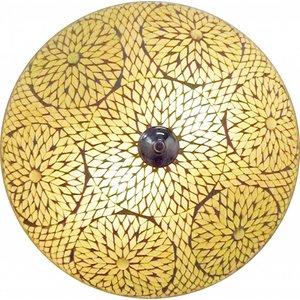 Plafonnière mozaïek transparant turkish design een mooie neutrale kleur.