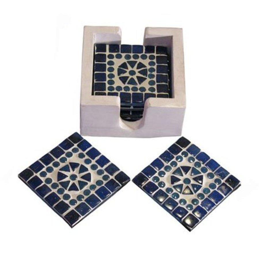 Onderzetters mozaiek blauw