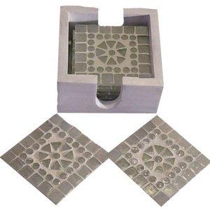 Onderzetters mozaiek transparant