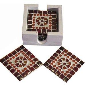 Onderzetters mozaiek rood