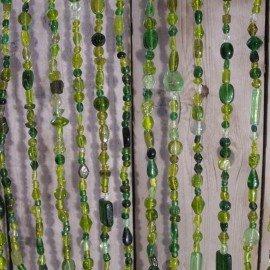 Glaskralengordijn groen