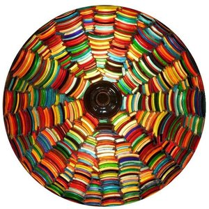Plafonnière bangle een zeer kleurrijke oosterse lamp