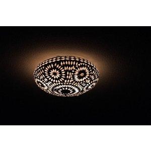 plafonniere glasmozaïek zwart wit turkisch design