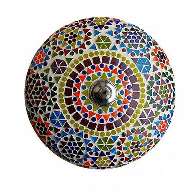 Plafonnière mozaïek multicolour traditioneel kleurrijk lamplicht