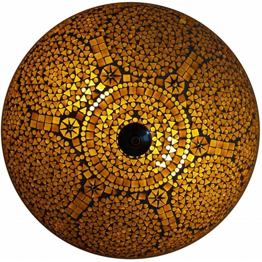 Sfeervolle lamp deze plafonnière bruin beige