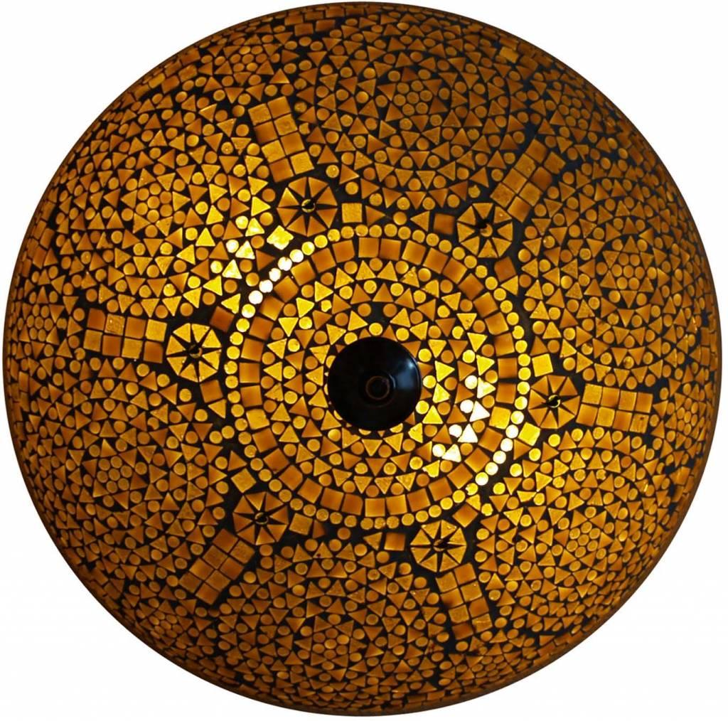 Sfeervolle Lamp Deze Plafonni 232 Re Bruin Beige Merel In