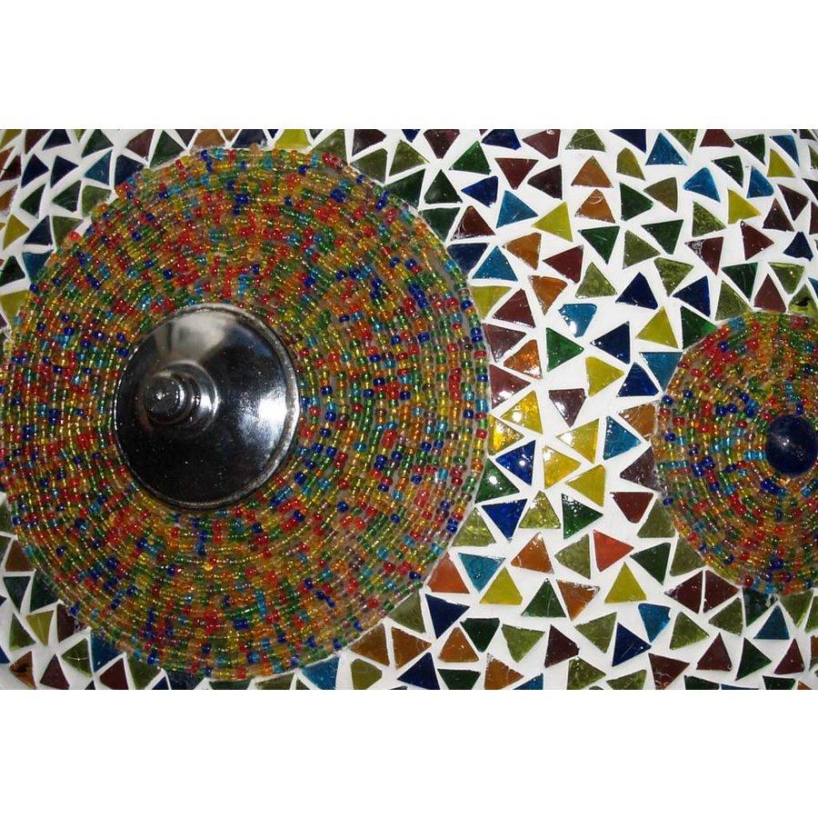 Plafonnière multi colour beads en triangles