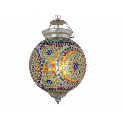 Hanglamp mozaïek multicolor traditioneel design