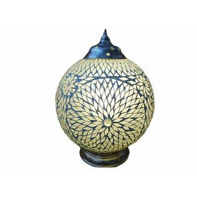 Tafellamp glasmozaïek transparant turkish design