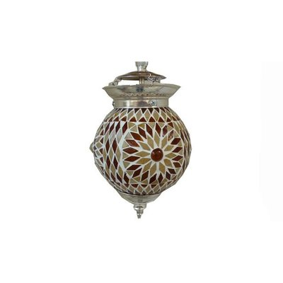Bruin turkisch design mozaïek hanglamp