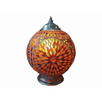 Oosterse lamp rood oranje glasmozaïek turkisch design