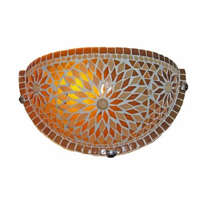 Wandlampje bruin turkish design mozaiek