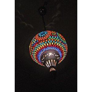 Oosterse hanglamp mozaïek multi color turkisch design