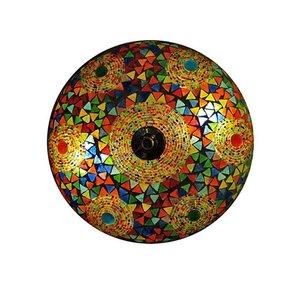 Plafonnière multi colour triangle mozaïek en bangles