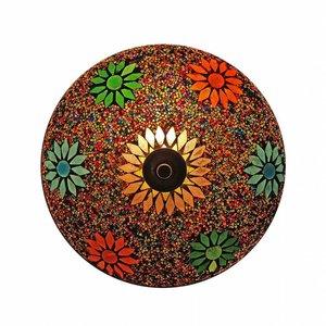 Oosterse plafonniere mozaïek multicolour kraal .
