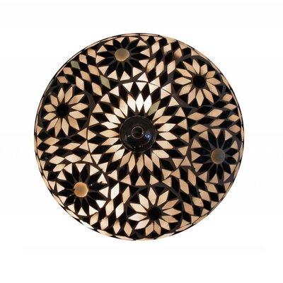 Sfeervolle Plafonnière glasmozaïek zwart wit turkish design
