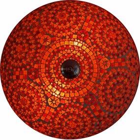 Kleurrijke lamp rood