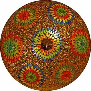 Oosterse Plafonnière glasmozaïek multicolor kraal uit India