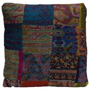 Vierkant zijde kussen patchwork