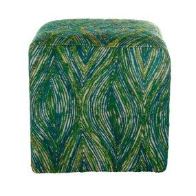 Vierkante poef groen