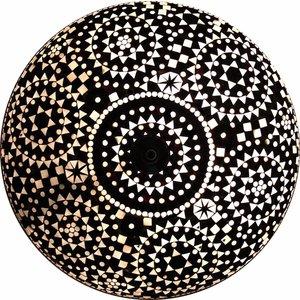 Extra grote plafonnière zwart wit mozaïek uit India