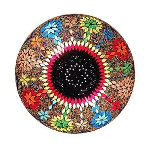 Plafonnière mozaïek multicolor metaal en kraal