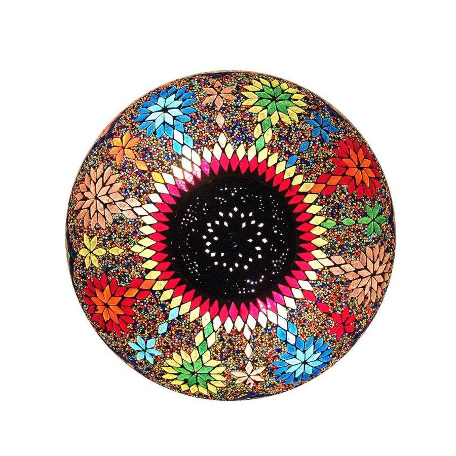 Oosterse plafonnière multi colour beads en iron