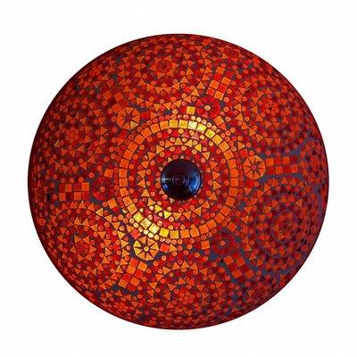 plafonniere mozaïek rood traditioneel design