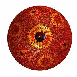 plafonniere kraal rood