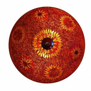 Pafonniere mozaïek kraal rood (beads)