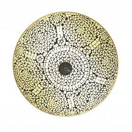 Witte mozaiek plafonniere