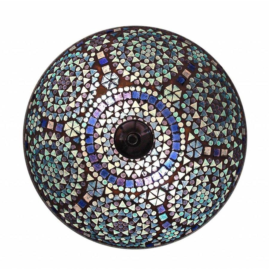 Oosterse plafonniere mozaiek blauw traditioneel