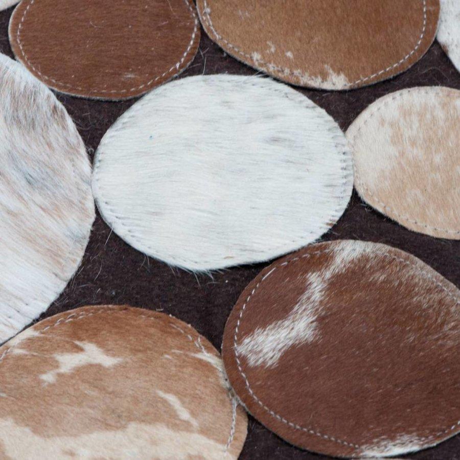 Vloerkleed circles bruin leer 160x230cm