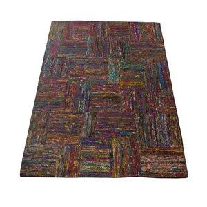 Carpet gerecycled zijde kleur 160 x230 cm