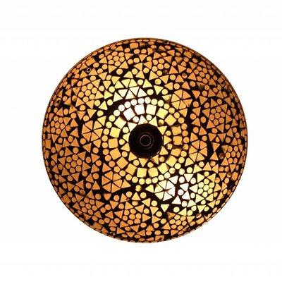 Plafonnière mozaïek transparant traditioneel design