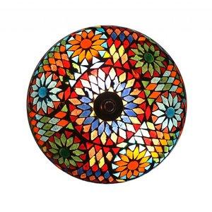 plafonniere glas mozaïek multi color turkisch design 24 cm