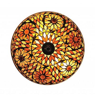 Plafonniere glasmozaïek bruin turkish design
