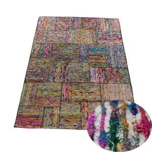 Carpet multi color zijde basis wit 160 x 230 cm