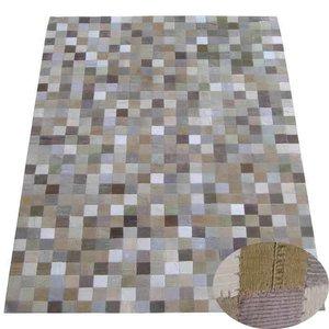 Carpet beige geblokt 160 x 230 cm
