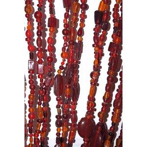 Glaskralengordijn rood/oranje