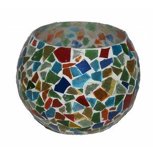 Waxinelichthouder broken glass