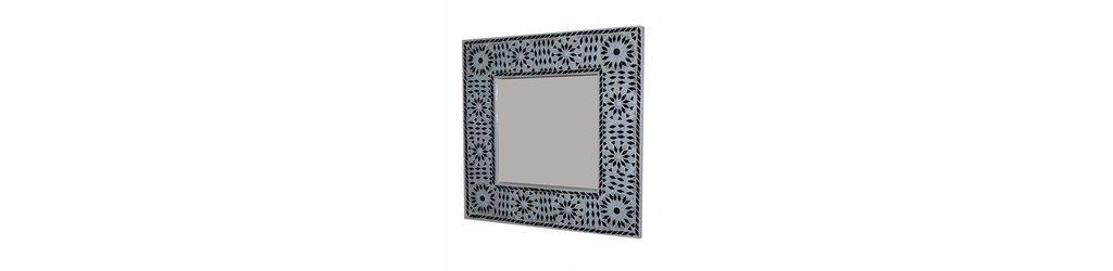Mozaiek spiegel en Spiegel scrapwood