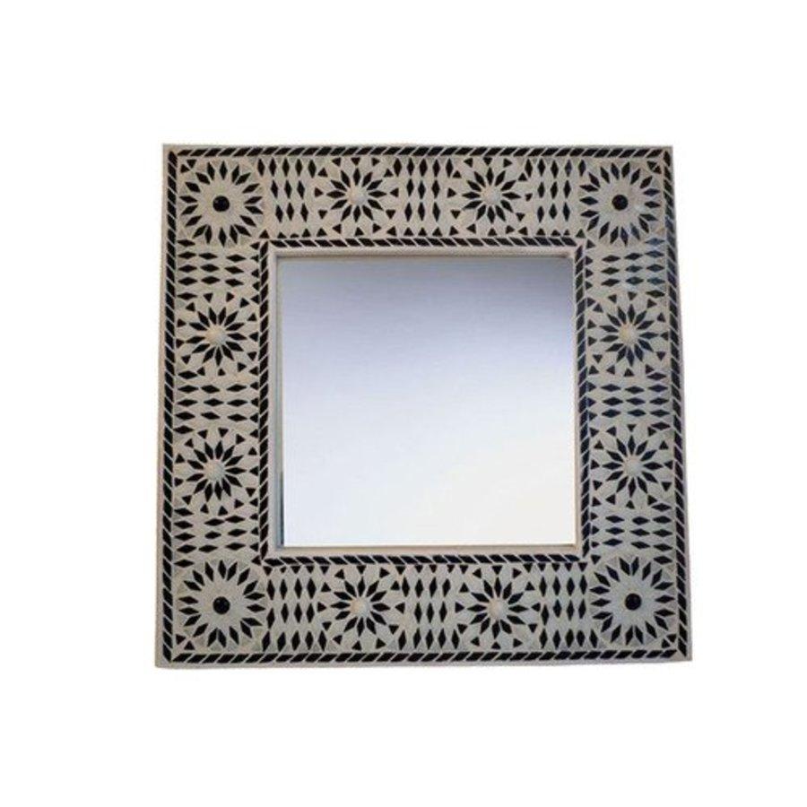 Spiegel glasmozaiek zwart wit