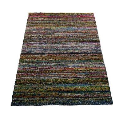 Vloerkleed katoen en zijde 160 x 230 cm